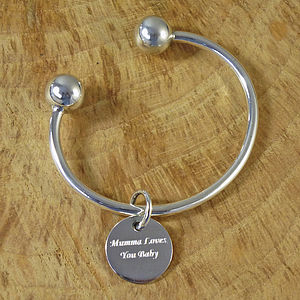 Personalised Girl's Charm Silver Torque