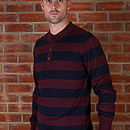 Men's Merino Wool Long Sleeve Polo Top