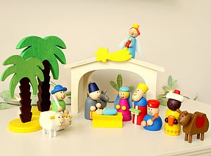 Wooden Nativity Set - traditional toys & games