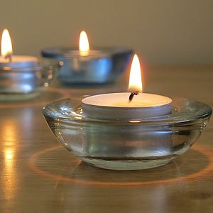 Natural Unscented Tea Light Candles - candles & candle holders
