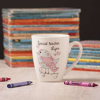 Personalised Teacher Mug With Birds