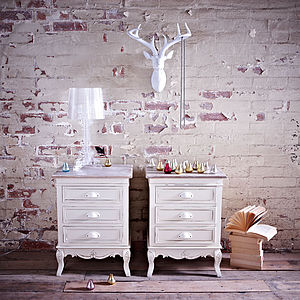 Set Of Two Brittany Bedside Drawers - bedroom