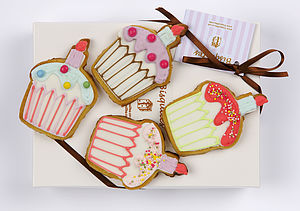 Four Cupcake Biscuits - biscuits