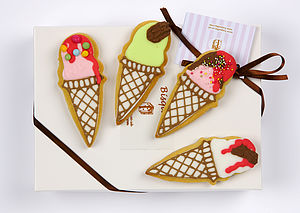 Four Ice Cream Biscuits - wedding favours