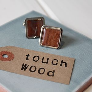 'Touch Wood' Cufflinks