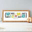 Personalised Double Coordinates Print