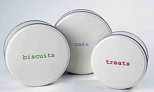 Word Range Storage Tins - kitchen accessories