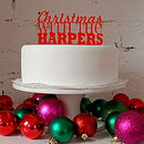 Personalised Christmas Cake Topper in Red