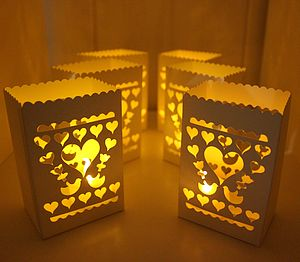 Set Of Six Lanterns With Battery Tea Lights - votives & tea light holders