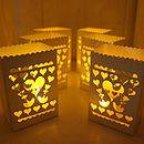 Set Of Six Lanterns With Battery Tea Lights