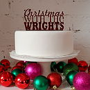 Personalised Christmas Cake Topper in Maroon