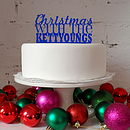 Personalised Christmas Cake Topper in Royal Blue