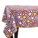 Slate Paisley Tablecloth