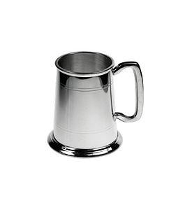 Handmade Pewter One Pint Tankard - drink & barware
