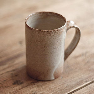 Hand Thrown Tea Mug - ceramics