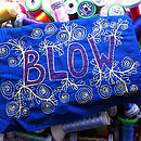 Embroidered 'Blow' Art Handkerchief