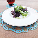 Set Of Four Lace Placemats