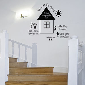 Personalised Family Wall Sticker - wall stickers