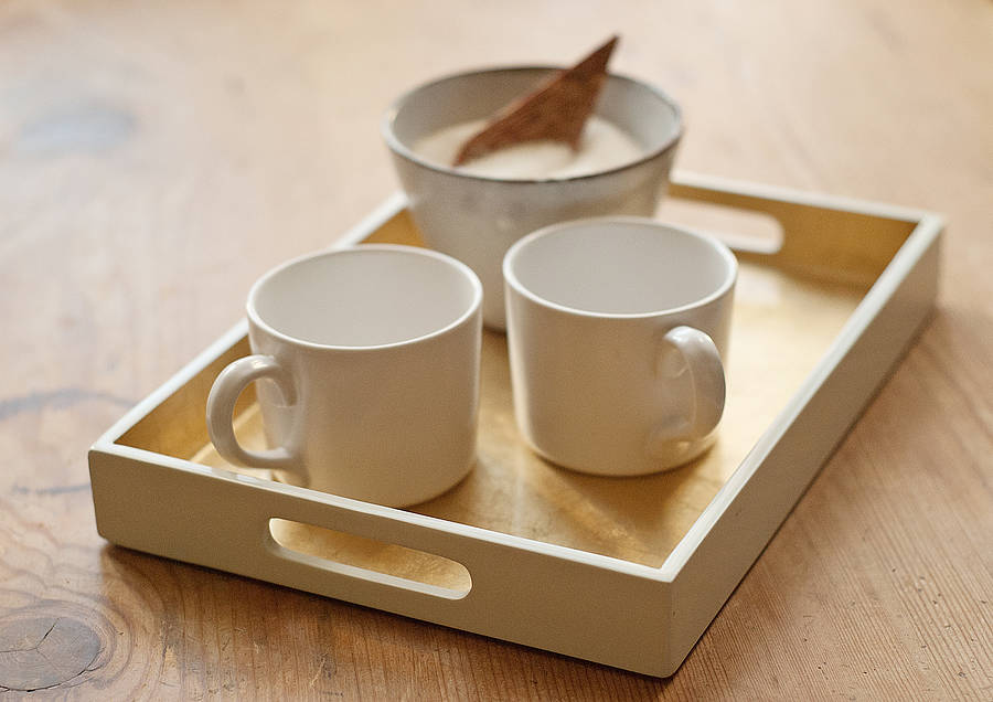 Small Lacquered Drinks Tray By Nom Living