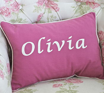 Personalised Handmade Children's Cushion