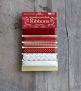 Six Scandi Ribbons - ribbon