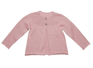 Beautiful Wool And Cotton Mix Tille Cardigan - children's cardigans