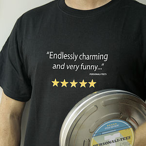 Film Review T Shirt, In An Original Film Can - gifts for him