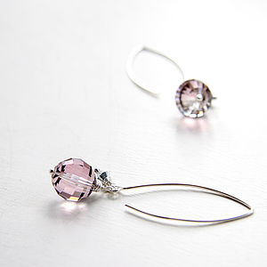 Antique Rose Swarovski Crystal Drop Earrings