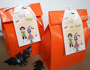 Halloween Party Bags And Personalised Tags - trick or treat bags