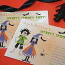 Halloween Personalised Party Invitations
