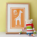 Personalised Child's Giraffe Artwork