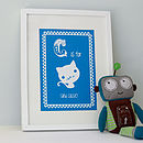 Personalised Child's Cat Artwork