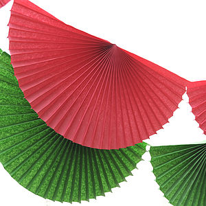 Paper Fan Garland Bunting - garlands, bunting & hanging decorations