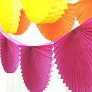 Paper Fan Garland Bunting Party Decoration