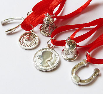 'Six' Luxury Christmas Pudding Charms