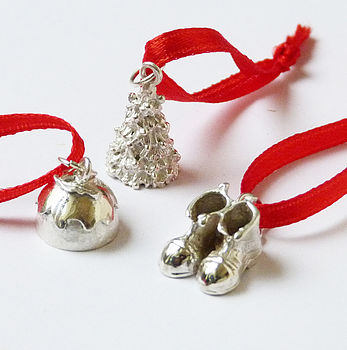 'Three' Luxury Christmas Pudding Charms