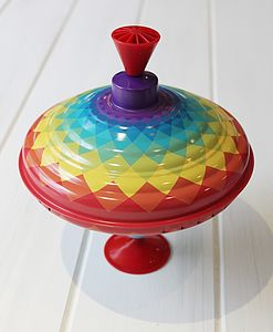 Rainbow Humming Spinning Top - traditional toys & games