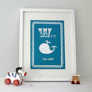 Personalised Baby's Whale Print