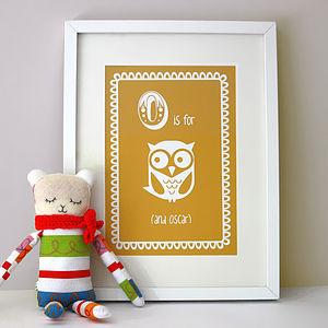Personalised Child's Owl Art