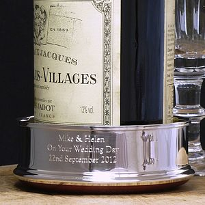 Silver Wine Coaster - gifts for couples