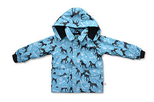 Childrens Rain Coat In Dogs