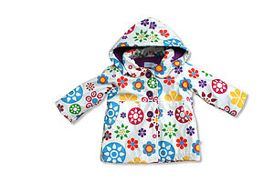 Childrens Raincoat In Colour Flower - children's clothing