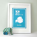Personalised Baby's Hippo Artwork