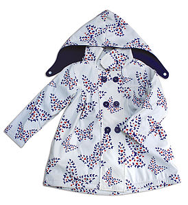 Childrens Raincoat In Butterfly Design