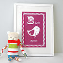 Personalised Child's Bird Print