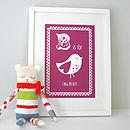 Personalised Child's Bird Print
