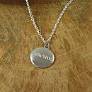 Personalised Men's Silver Pebble Necklace
