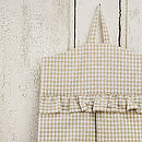 Gingham Nappy Stacker