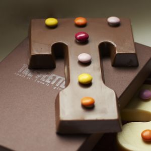 Chocolate Letter With Smarties - wedding favours