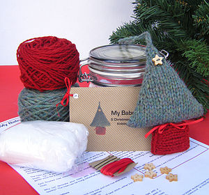 Christmas Tree Decoration Knitting Kit - knitting kits